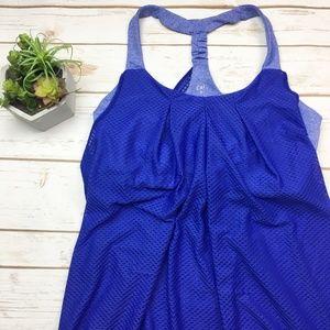 CAbi Tops - Cabi blue built in sports bra workout tank top M